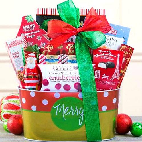 Merry Christmas Chocolates, Holiday Gift Basket