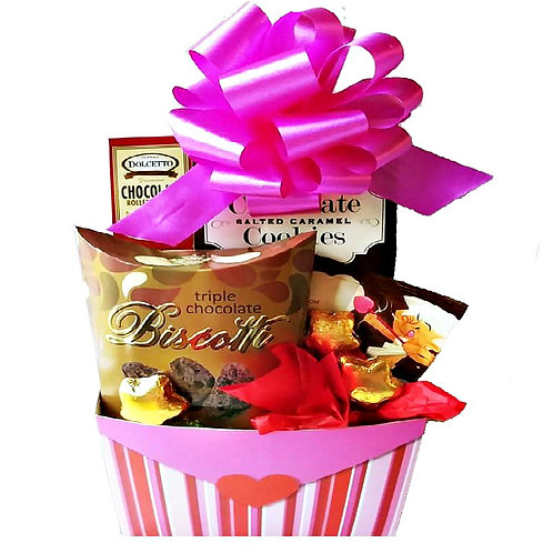 Valentine Favorites Gift Box, Cookies & Chocolate