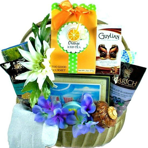 Relaxing Bay Breeze Luxury Pamper Spa Gift Basket For Women