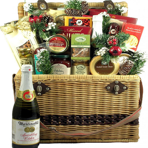 Holiday Picnic Hamper, Gift Basket With That WOW Factor