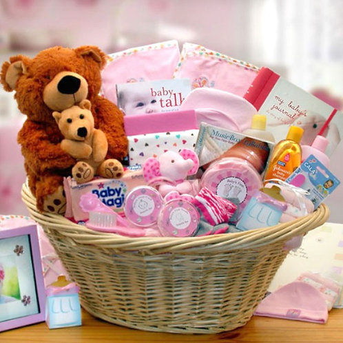 Deluxe New Baby Girl Gift Collection