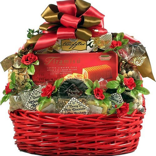 Sweet Devotion, Romantic Gift Basket, Valentine's Day Gift
