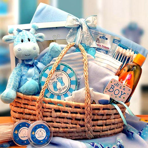 Precious Little Baby Boy Gift Basket