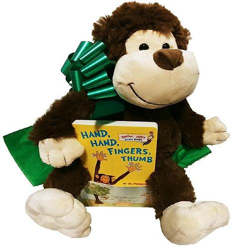 Adorable Cheeky Monkey Welcome New Baby Gift Basket