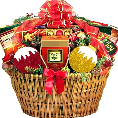 Giant Christmas Party Gift Basket