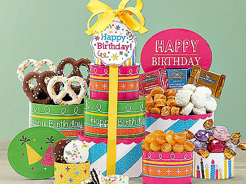 Happy Birthday Gift Tower, Best Birthday Gift For Him or Her
