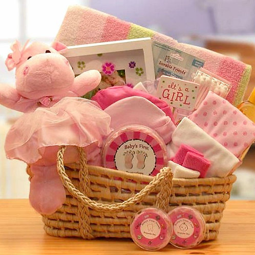 Precious Little Baby Girl Gift Basket