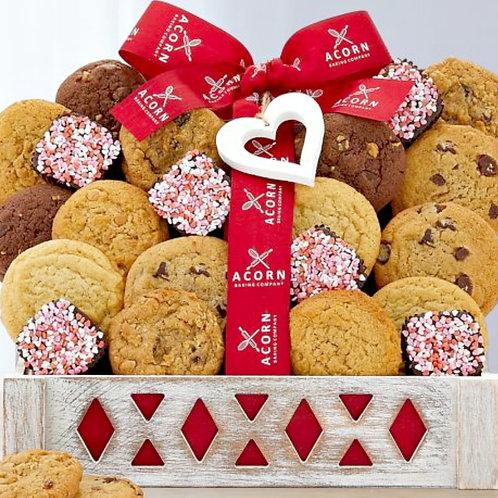 Happy Valentine's Day Cookies & Brownies Gift Assortment