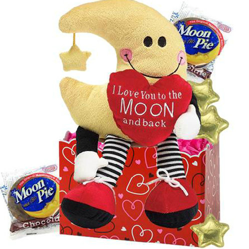 Love You to the Moon & Back Valentine's Day Gift Basket
