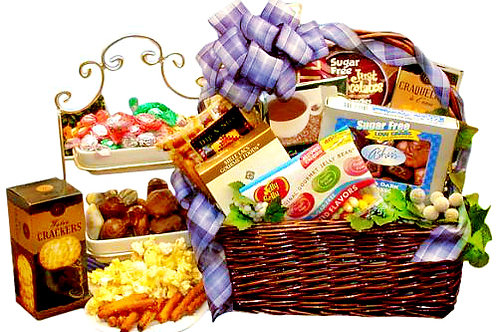 Sugar-Free Gift Basket For Diabetic Or Health Conscious Friends