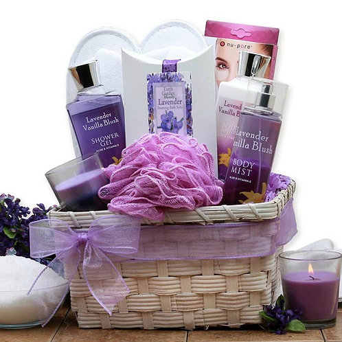 Rejuvenating Lavender Spa Basket