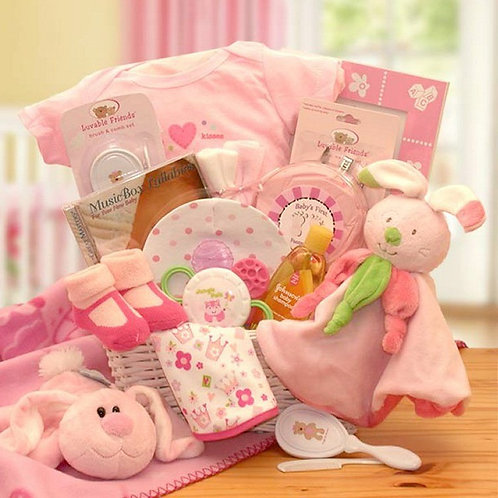 Hunny Bunny's Newborn Baby Girl Gift Basket