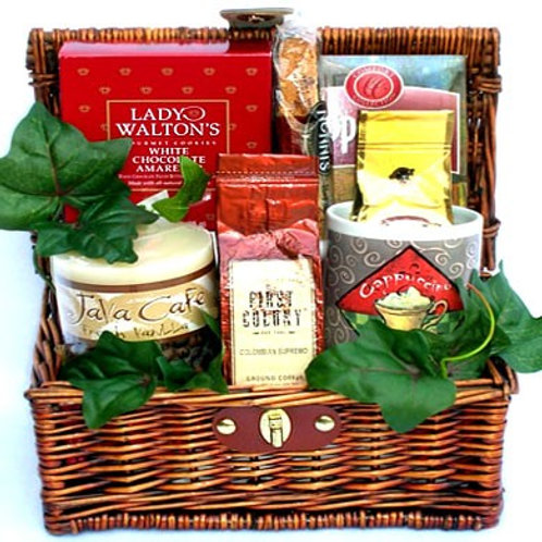 Gourmet Coffee Gift Basket, Perfect Coffee Gift For Coffee Lovers