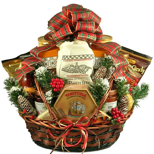 Country Christmas Gift Basket