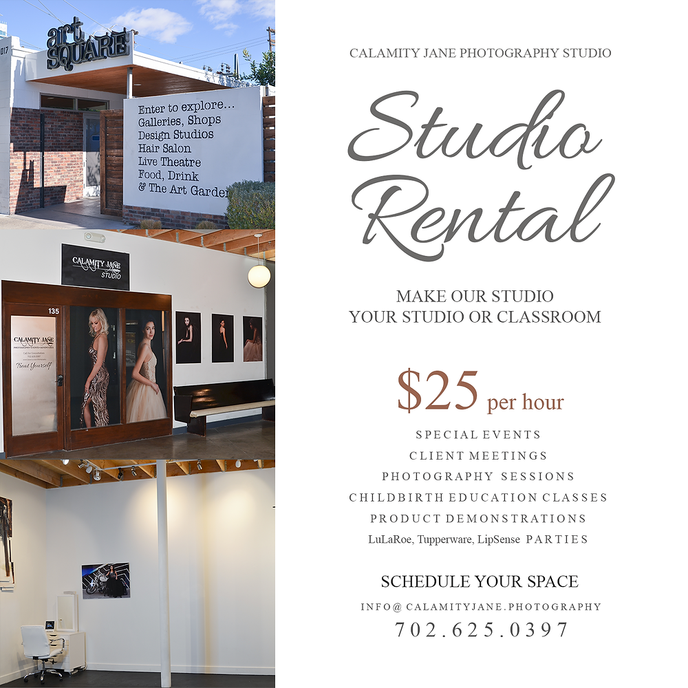 Rent our studio: 702.625.0397