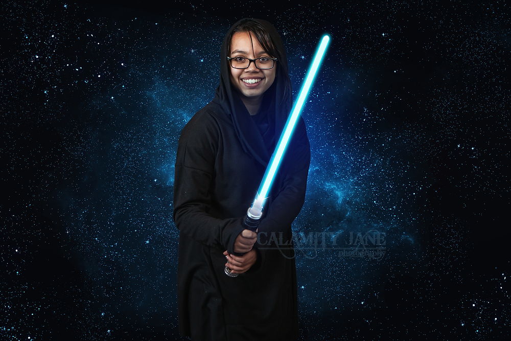 Teen Star Wars Jedi Fantasy Composite by Calamity Jane Photography Studio Las Vegas