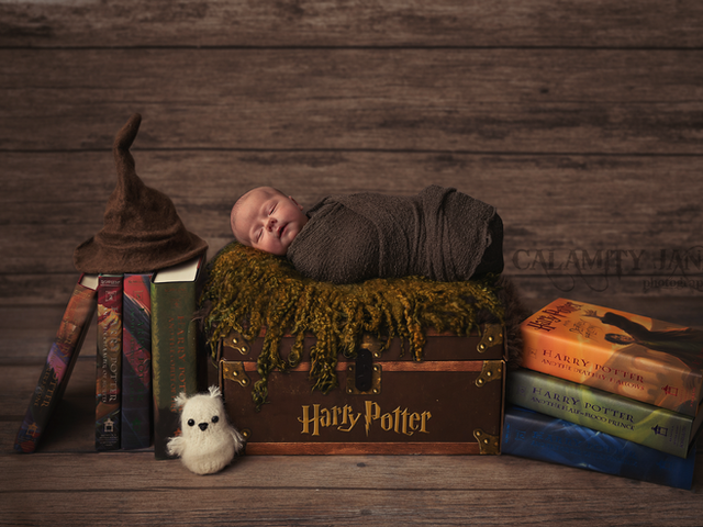 Harry Potter Newborn Portrait - Las Vegas Newborn Photographer