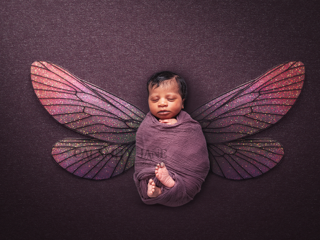 Newborn Photography - Purple Faery