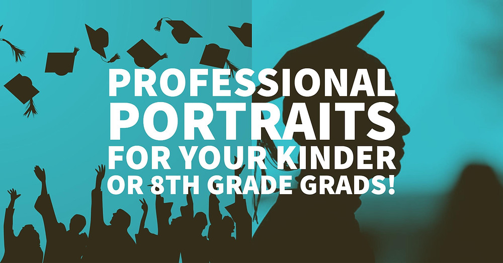 8th grade, Kindergarten graduation portraits