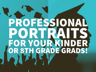 Graduation Portraits for 8th Grade and Kindergarten