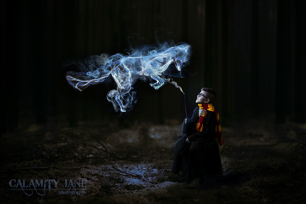 Harry Potter fantasy portrait by Las Vegas photographer Calamity Jane.