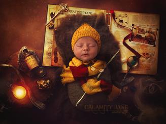 Harry Potter Newborn Portrait - Las Vegas Newborn Photographer