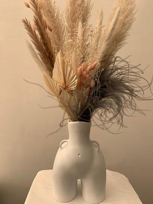 Body Vase + Dried Flower Arrangement