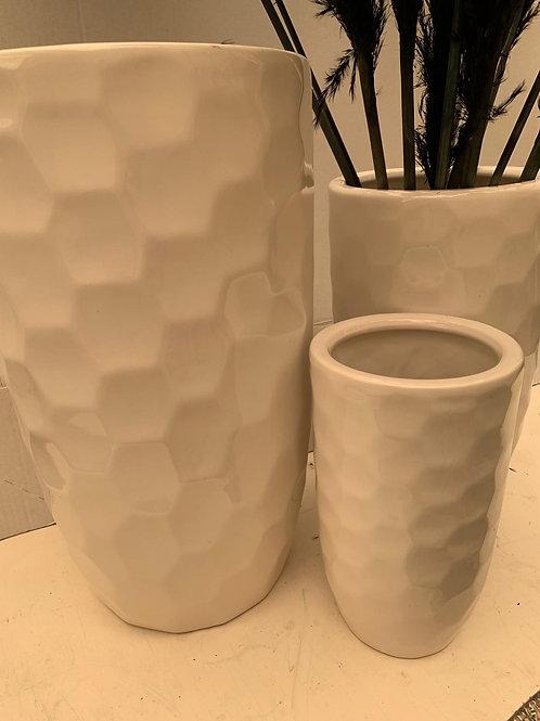 Ceramic Off White Vase