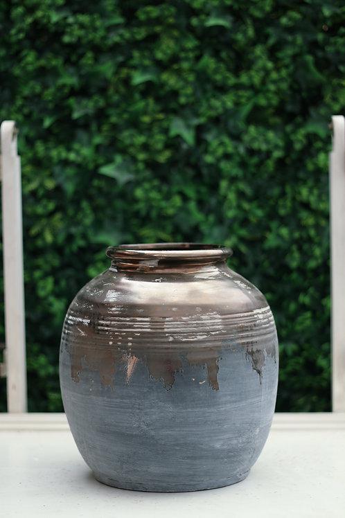 Gold & Grey Vase