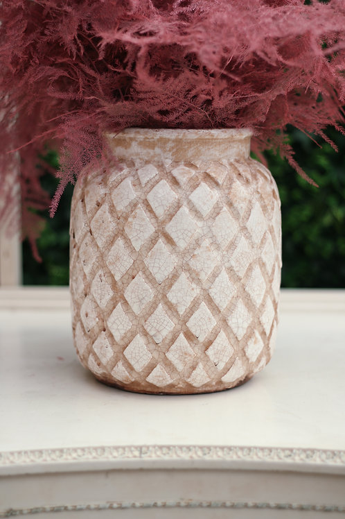 Cross Vase - Cream