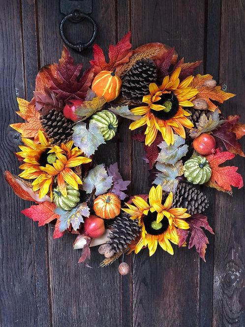 Luxury Autumn Sunflower Wreath