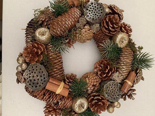 Cone Silver Wreath