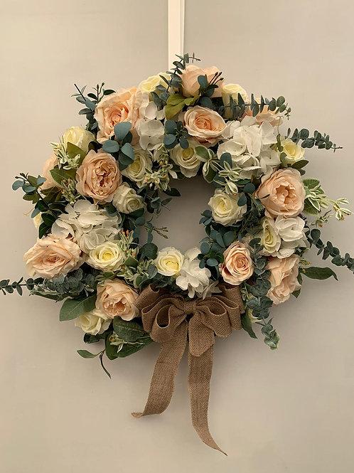 Eucalyptus And Rose Wreath