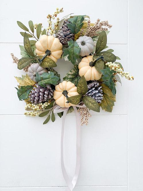 Blush Autumn Wreath
