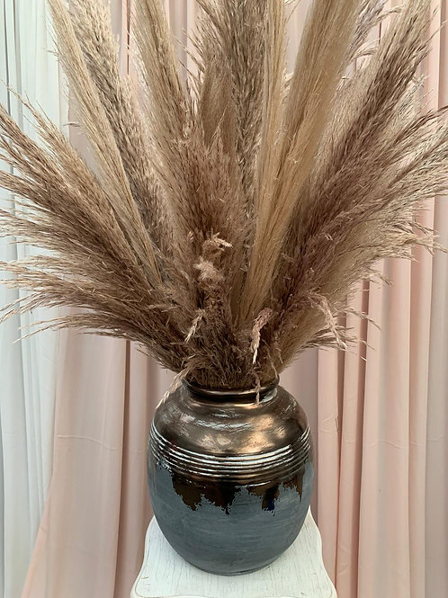 Kylie Vase / Grey Gold Ceramic Vase