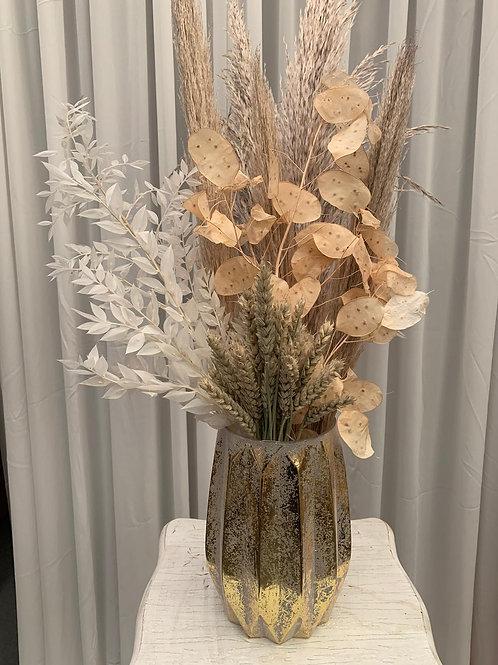 Tiffany Vase, Gold Glass