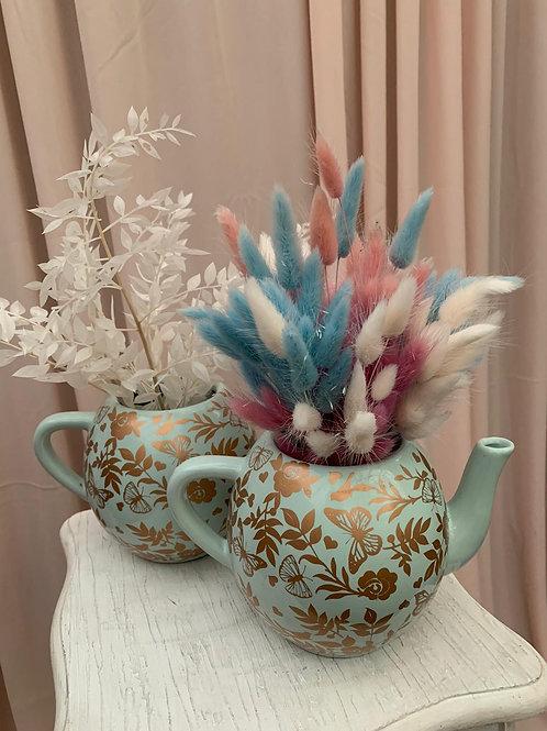 Blue & Gold Ceramic Ornament Tea Pot