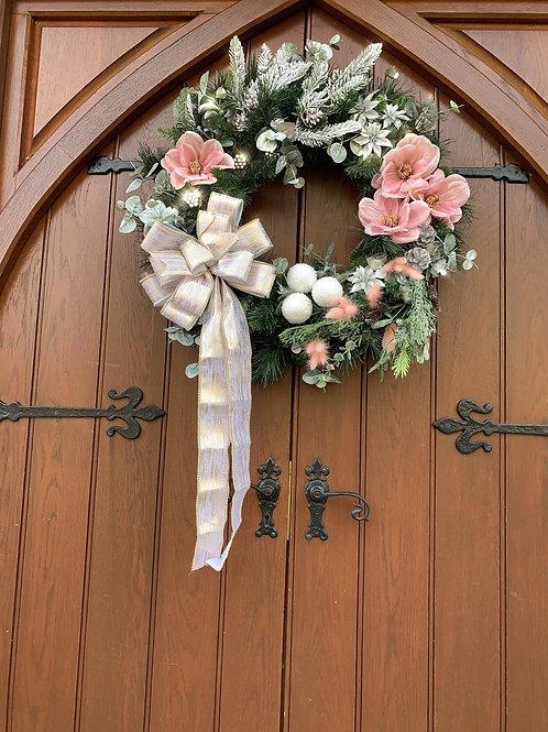 'Pinky Perfect' Door Wreath
