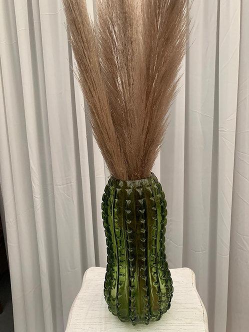 Bottle Green Glass Vase