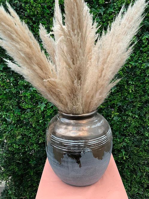 Ceramic Grey Vase