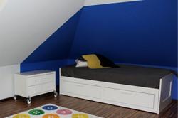 Pokój dla chłopca na poddaszu