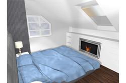 Projekt domu - sypialnia