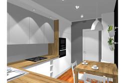 Projekt mieszkania 70mk - kuchnia