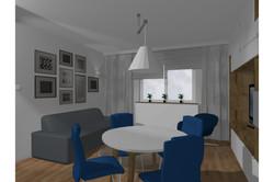 Projekt domu - salon