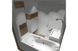 Projekt mieszkania 70mk - łazienka