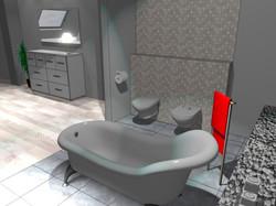 Projekt domu - łazienka