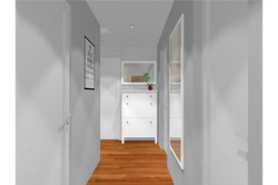 Projekt mieszkania 70mk - hol