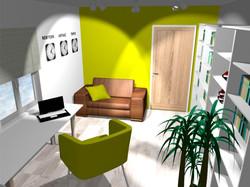 Projekt domu - gabinet