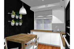 Projekt mieszkania 70mk