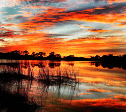 sunset on lake great